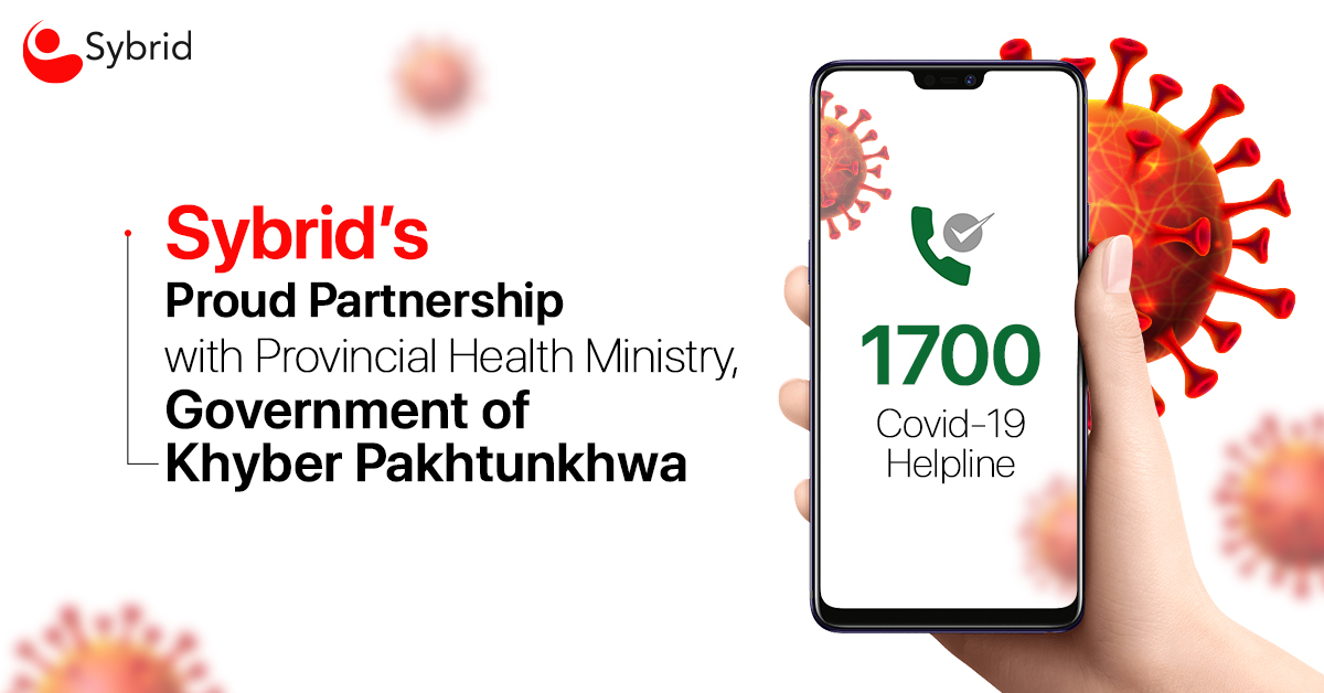 1700 – COVID-19 Helpline: Sybrid's Proud Partnership with Provincial Health Ministry, Government of Khyber Pakhtunkhwa